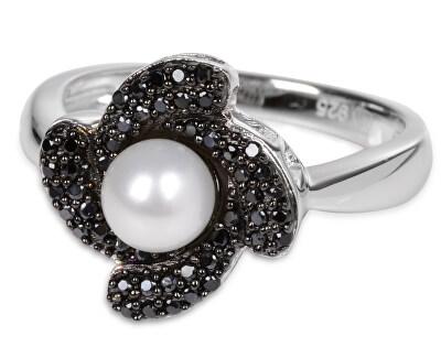 Stříbrný prsten s krystaly SC061