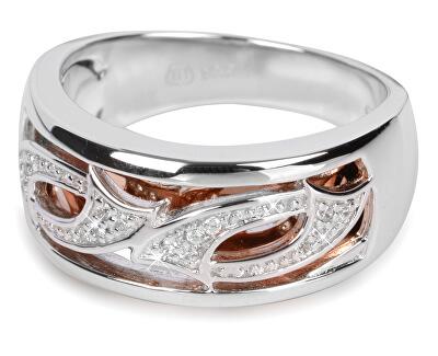 Stříbrný prsten s krystaly SC064