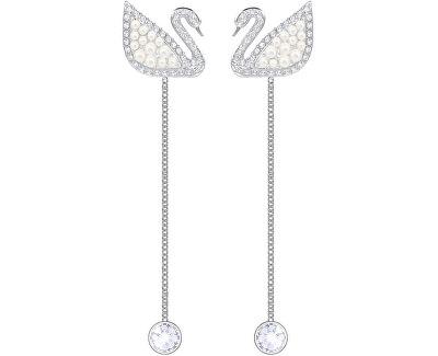 Luxusní dvojité labutí náušnice SWAN 5429270
