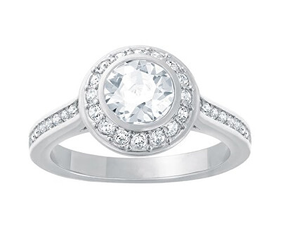 Swarovski prsten ANGELIC - velikost 60 rhodiovaný s čirým krystalem
