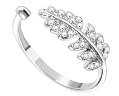 Nastaviteľný prsteň s trblietavým lístkom SAIT03
