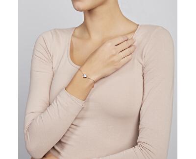 Růžově zlacený ocelový náramek srdce SKJ1255791