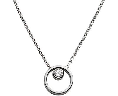 Skagen Dámsky oceľový náhrdelník s kryštálom SKJ0833040