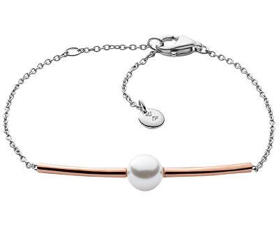 Skagen Jemný ocelový náramek s perlou SKJ0918998