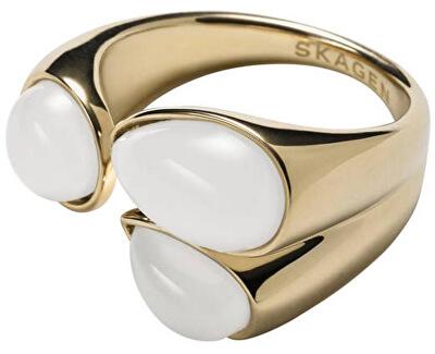 Skagen Módní zlatý prsten SKJ0747710