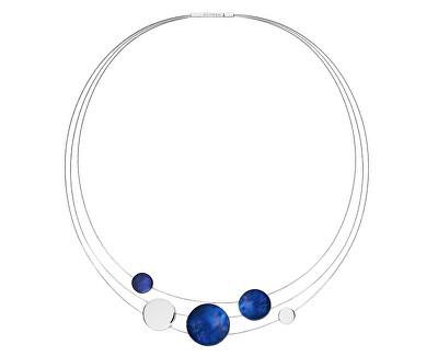 Oceľový náhrdelník s modrou perleťou SKJ1262040