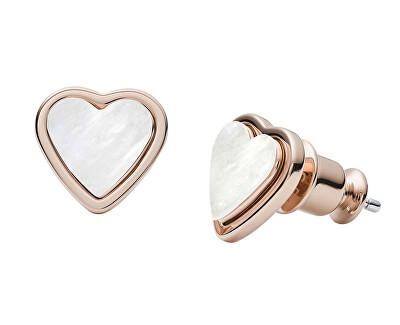 Cercei din oțel placat cu aur roz inima SKJ1254791
