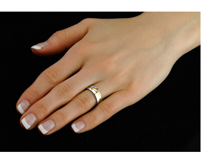 Snubní ocelový prsten pro muže a ženy MARIAGE RRC2050-M