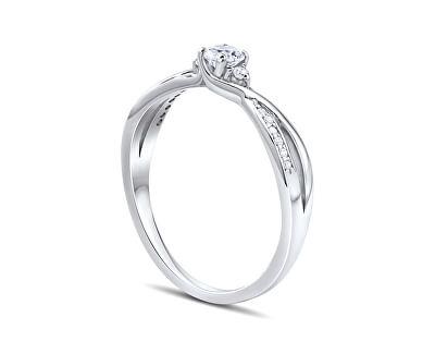 Stříbrný prsten s krystaly Swarovski FNJR085sw