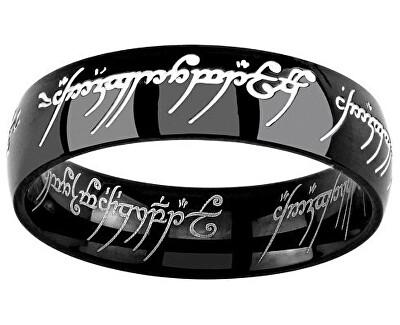Silvego Černý ocelový prsten moci z Pána prstenů a Hobit RRC5623