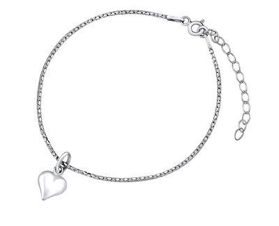 Jemný stříbrný řetízek na ruku Srdce ZTJ1303175VSW