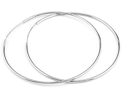 Silvego Kruhové stříbrné náušnice BMBE80