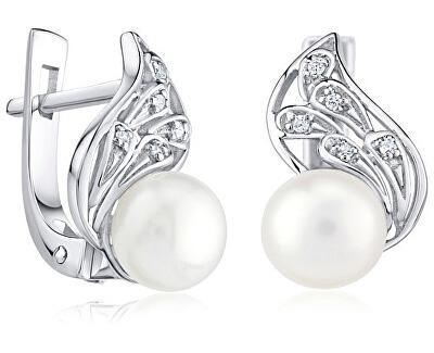 Silvego Argint bijuterii Autentic autentic cercei perla FNJE0778-PR