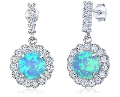 Silvego Cercei de argint cu opal albastru TXR302003
