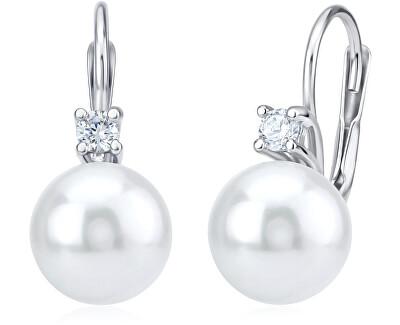 Silvego Stříbrné náušnice s perličkami YO3179