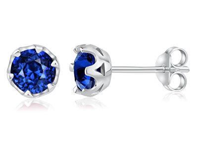 Stříbrné náušnice s pravým modrým Topazem JJJ1033BSW