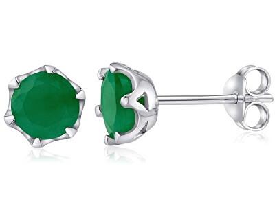 Silvego Cercei de argint cu emerald autentic FNJE0242em