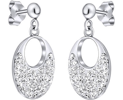 Stříbrné náušnice se Swarovski krystaly SILVEGOB36096
