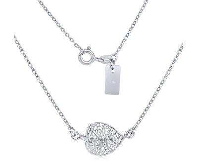 Silvego Stříbrný náhrdelník Lísteček SMJN09FF6