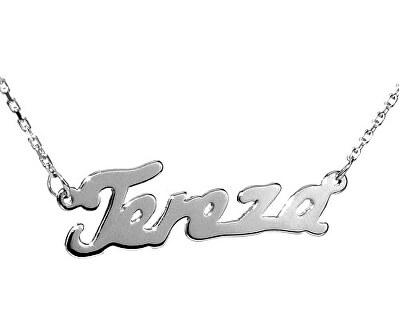 Stříbrný náhrdelník se jménem Tereza