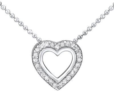 Silvego Stříbrný náhrdelník SRDCE ZTJ81045PVSW