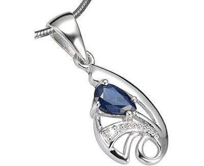 Silvego Stříbrný přívěsek s modrým Safírem Desiré FNJP0673-SA