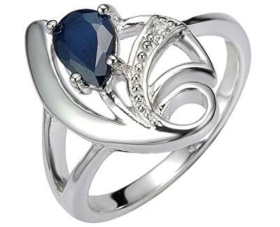 Stříbrný prsten s přírodním safírem DESIRÉ FNJR0673