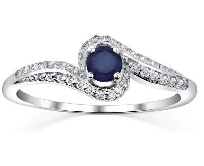 Silvego Stříbrný prsten se safírem Idonea FNJR016sa