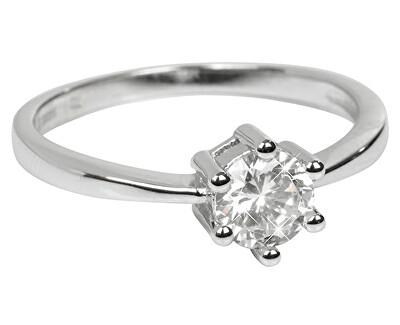 Stříbrný zásnubní prsten SRJ35