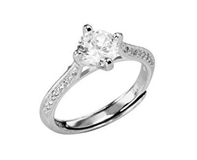 Stříbrný prsten s krystaly SRJ62