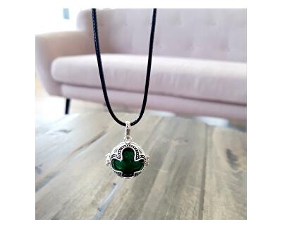 Dámský náhrdelník zelená Rolnička Čtyřlístek K16SZ18
