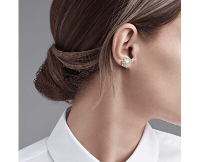 Luxusní stříbrné náušnice s perlami Paloma Picasso Olive Leaf 37296457