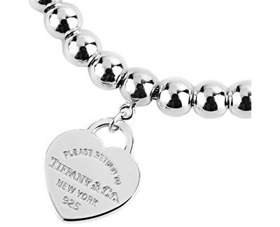 Luxusní stříbrný náramek s pozlaceným srdíčkovým přívěskem 30929209 + originální balení