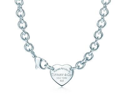 Luxusní stříbrný náhrdelník se srdíčkovým přívěskem 19936562 + originální balení