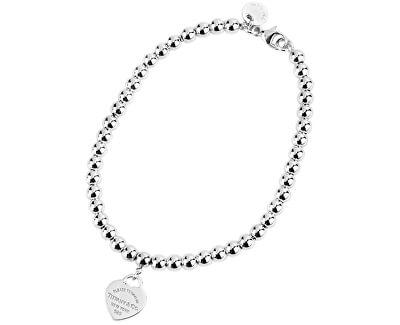 Luxusní stříbrný náramek se srdíčkovým přívěskem 23984024