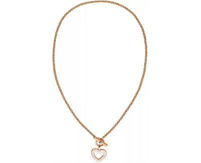 Dámský bronzový náhrdelník se srdcem TH2780158
