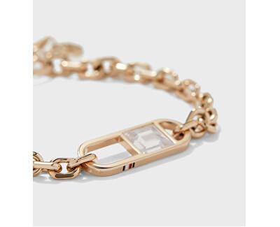Pozlacený dámský náramek s krystalem TH2780239