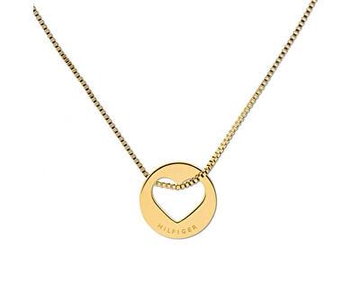 Dámský pozlacený náhrdelník se srdcem TH2701075