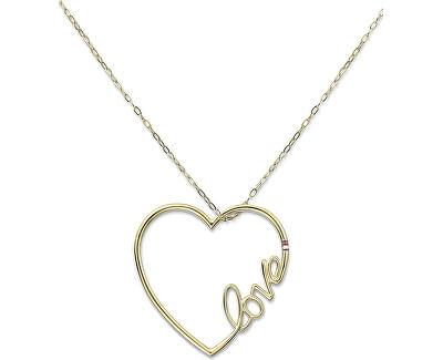 Colier lung din oțel cu TH2700908 inima