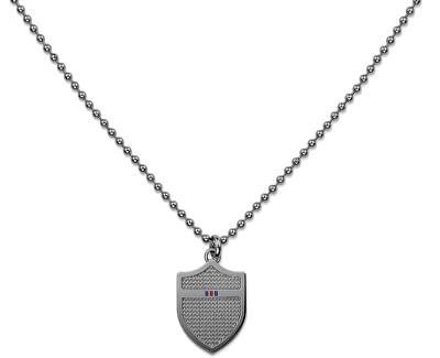 Sivý náhrdelník so štítom TH2700896