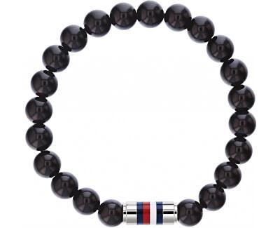 Štýlový čierny náramok z ónyxu TH2790068