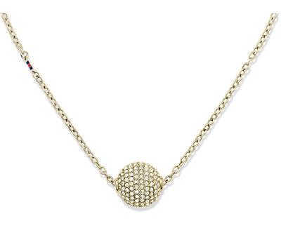 Zlatý náhrdelník Gulička s kryštálmi TH2700837