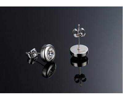 Drobné náušnice s čirým krystalem KES-046
