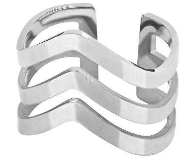 Elegantní trojitý prsten z oceli