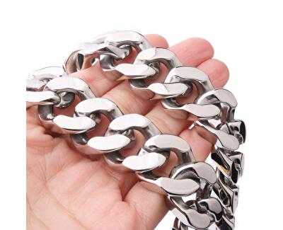 Masívny oceľový náhrdelník