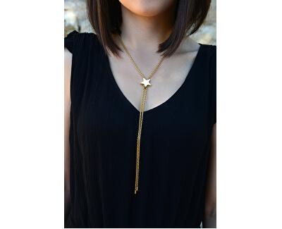 Nastavitelný náhrdelník s hvězdou z pozlacené oceli