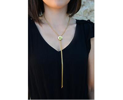 Nastavitelný náhrdelník s kolečkem z pozlacené oceli