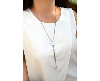 Nastavitelný náhrdelník s kostičkou z oceli