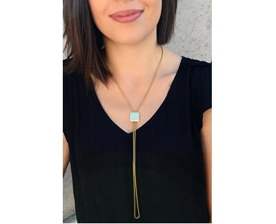 Nastavitelný náhrdelník s kostičkou z pozlacené oceli