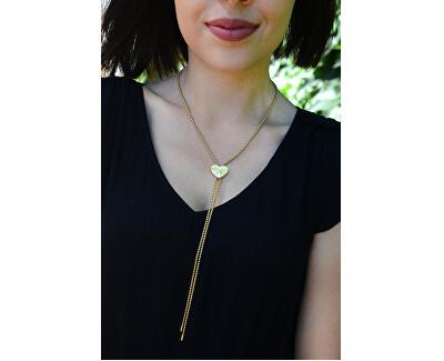 Nastavitelný náhrdelník se srdíčkem z pozlacené oceli